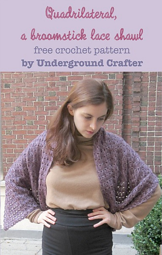 Ravelry Quadrilateral A Broomstick Lace Shawl Pattern By Marie Segares