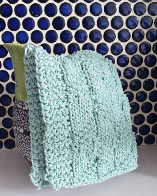 Ravelry: Diagonal Moss Stripe Dishcloth pattern by Marie Segares