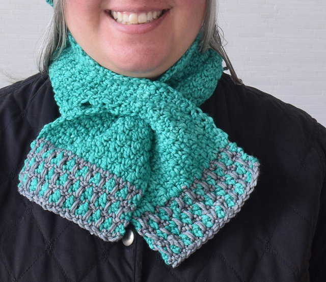 Ravelry In The Neighborhood Keyhole Scarf Pattern By Marie Segares