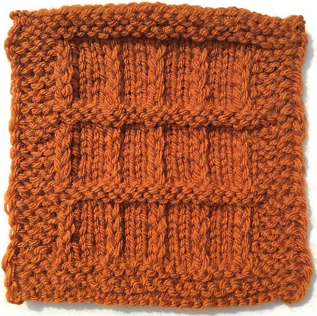 Ravelry Slip Stitch Garter Stitch Boxes Square Pattern By Marie Segares