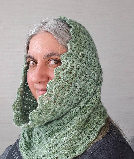 Ravelry Textured Waves Hooded Cowl Pattern By Marie Segares