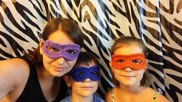 Super Hero Mask pattern by Marjorie McNulty