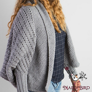 67504d6c2a182 Ravelry  Knitted Cocoon Cardigan pattern by Marly Bird