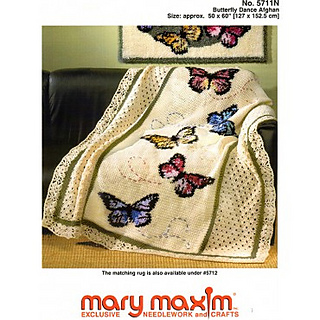 Ravelry: Butterfly Dance Afghan pattern by Mary Maxim