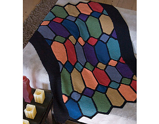 Ravelry Stained Glass Afghan Knit Pattern By Susan Levin