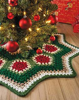 Mini Christmas Tree Skirt Pattern.Ravelry Granny Ripple Tree Skirt Pattern By Margret Willson