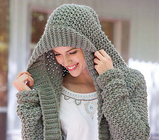 1c884f744337ec Ravelry  Weekend Casual Hooded Sweater pattern by Melissa Leapman