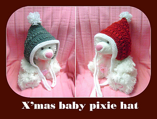 Ravelry christmas baby pixie hat pattern by maz kwok dt1010fo