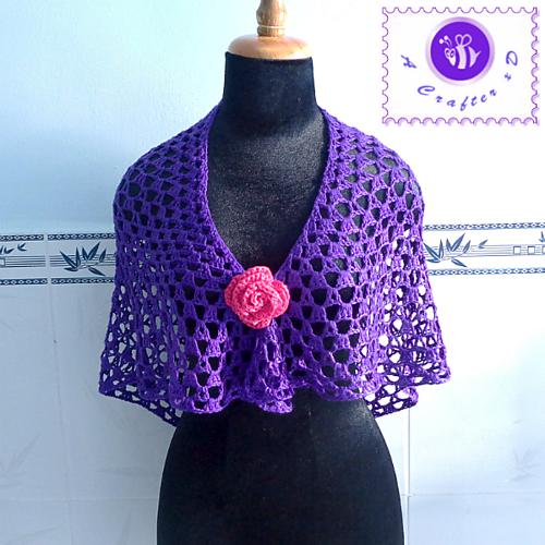 Ravelry Purple Glam Shawl Pattern By Maz Kwok