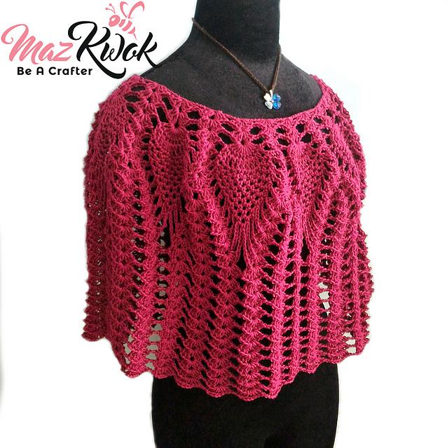 Ravelry Lacy Love Poncho Pattern By Maz Kwok Unique Crochet Poncho Pattern Ravelry