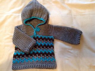 adae6d371c11 Ravelry  Leaping Crochet Baby Hoodie pattern by Tamara Kelly