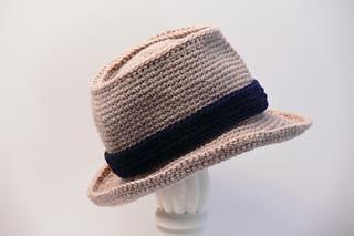 9df4b6ea6ca Ravelry  Fedora Hat Baby Boys to Mens XX Large pattern by Meadowvale Studio