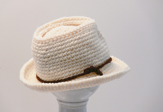 Ravelry  Fedora Hat Baby Boys to Mens XX Large pattern by Meadowvale ... 5408b0a56dd