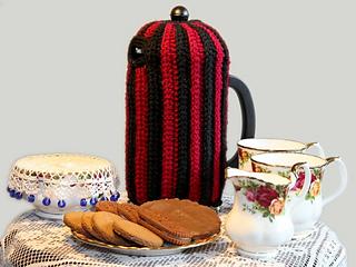 Coffee Pot Cosy Knitting Pattern : Ravelry: Crochet Brioche Coffee Plunger Cosy pattern by Megan Mills