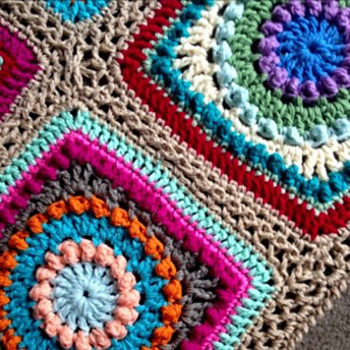 Ravelry Textured Circles Blanket Pattern By Rachele Carmona