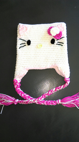 Ravelry Hello Kitty Inspired Crochet Hat Pattern By Debi Dearest