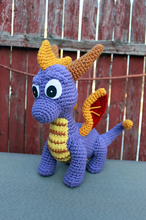 ravelry spyro and ember inspired dragon amigurumi pattern
