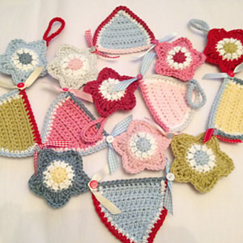 Ravelry Crochet Star Bunting Pattern By Ruby Custard