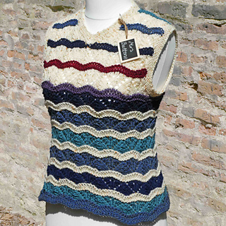 32fadfbd2c8d2f Ravelry  Quick Knit Wavy Vest pattern by Mrs Buttons
