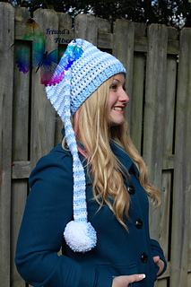 Ravelry  Christmas Stocking Long Tail Elf Hat - 6 Sizes - Newborn to Adult  pattern by Sissy Johnson 94621b6687d