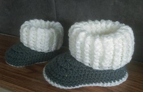 Ravelry Toddler Ugg Style Slipper Boots Pattern By Jinty Lyons