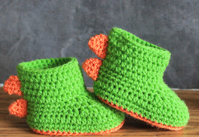 Ravelry Dinosaur Baby Booties Rawr Pattern By Jinty Lyons