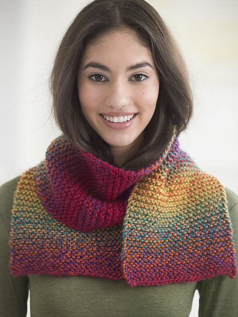 Ravelry Beginner Scarf Knit Pattern By Lion Brand Yarn