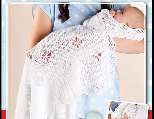Ravelry Royal Crochet Baby Shawl Pattern By Spotlight Australia
