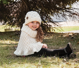 Ravelry: Aran Poncho and Hat pattern by Mary Maxim
