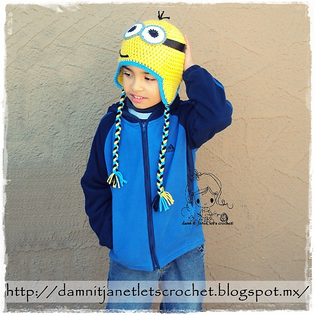 Ravelry Minion Earflap Beanie Pattern By Janet Carrillo