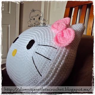 Crochet Moon Pillow