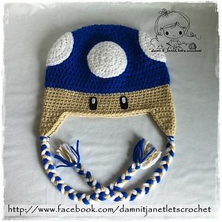 Ravelry  Mario Bros. Mushroom Beanie pattern by Janet Carrillo d8c2e8d66e0a