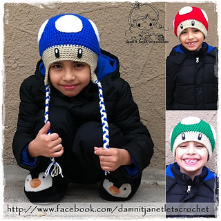 Ravelry  Mario Bros. Mushroom Beanie pattern by Janet Carrillo 420cb818204