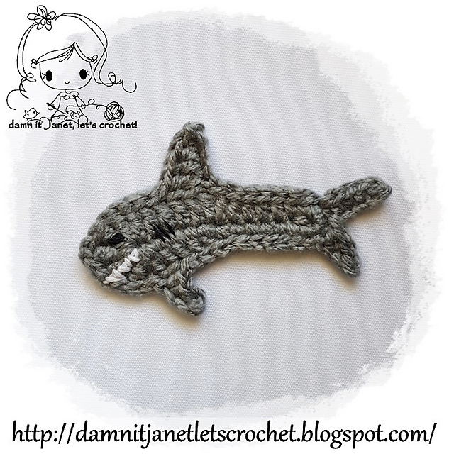 Ravelry: Shark Applique pattern by Janet Carrillo
