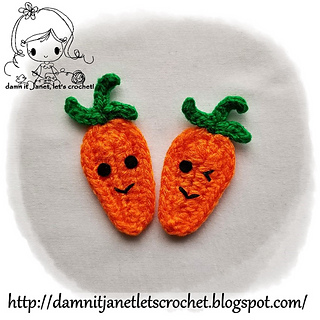 e1a45cf1d9 Ravelry  Carrot Applique pattern by Janet Carrillo