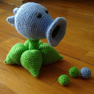 Ravelry: Plants vs  Zombies Snow Pea Shooter pattern by Kate Wilson