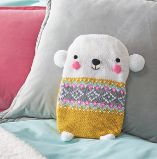73b7dca7ce1 Ravelry  Polar bear hot water bottle cover pattern by Jessica Biscoe