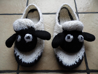 Ravelry Shaun S Slippers Seamless Felted Sheep Shoes