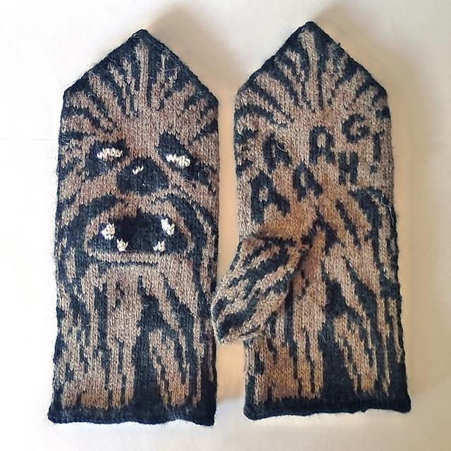 Ravelry Chewie Mittens Star Wars Tribute Pattern By Therese Sharp