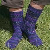 Bluebell Rib Socks  PDF