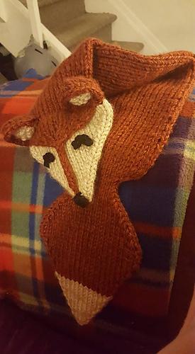 Foxy Loxy Fox Scarf Pattern By Myjah Conant Ravelry