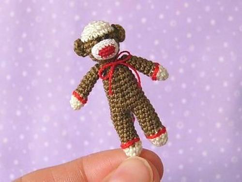 Ravelry Miniature Sock Monkey Pattern By Mariella Vitale
