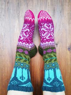 Fairy Tale Socks pattern by Sini Huupponen