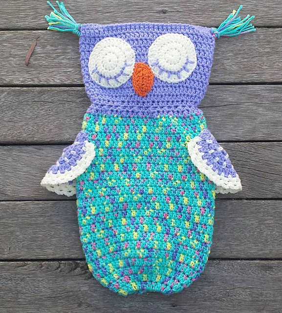 Ravelry Cute Owl Bag Holder Pattern By Buttonnose Crochet