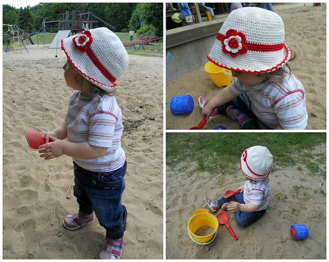 0bd51aa1aff Ravelry  Toddler Cotton Sun Hat pattern by Kinga Erdem