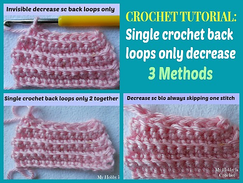 Ravelry Decrease Single Crochet Back Loops Only Pattern By Kinga Erdem