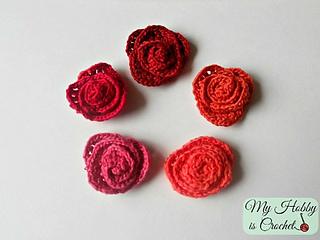 Ravelry Small Crochet Roses Pattern By Kinga Erdem