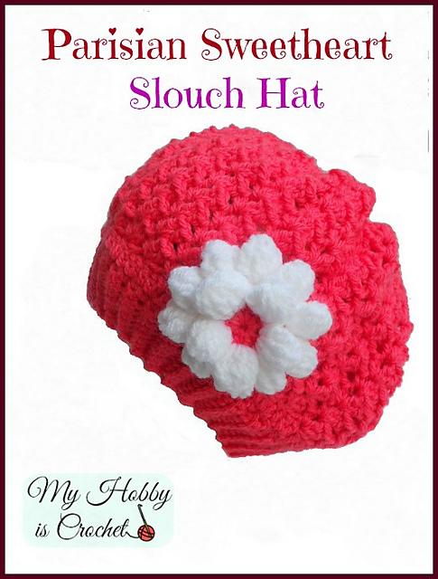 4450f338012 Ravelry  Parisian Sweetheart Slouch Hat pattern by Kinga Erdem