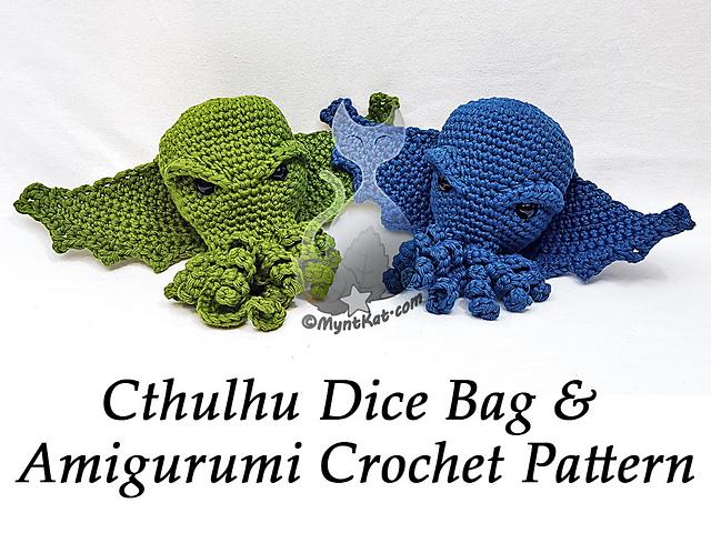 Ravelry: Cthulhu Dice Bag / Amigurumi pattern by MyntKat