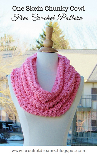 Ravelry One Skein Chunky Cowl Pattern By Crochetdreamz